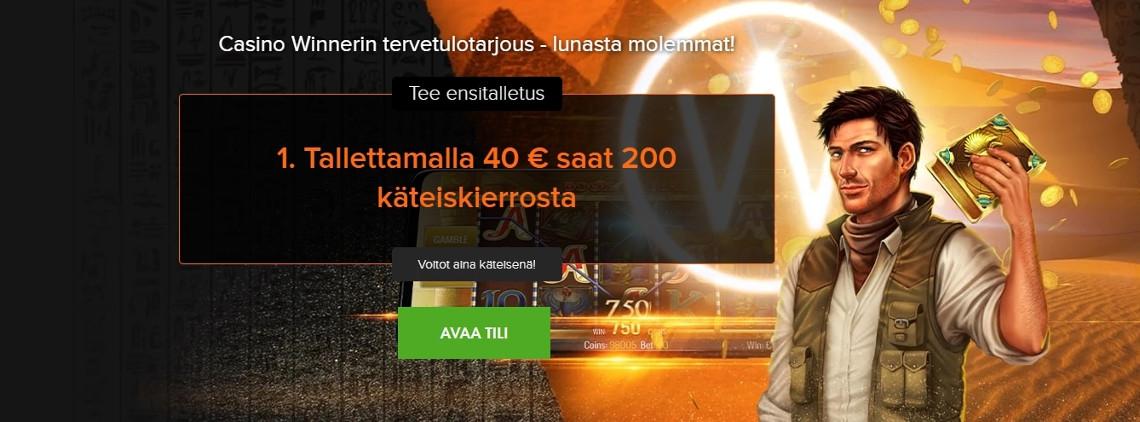 Casino Winner tervetuliaisbonus