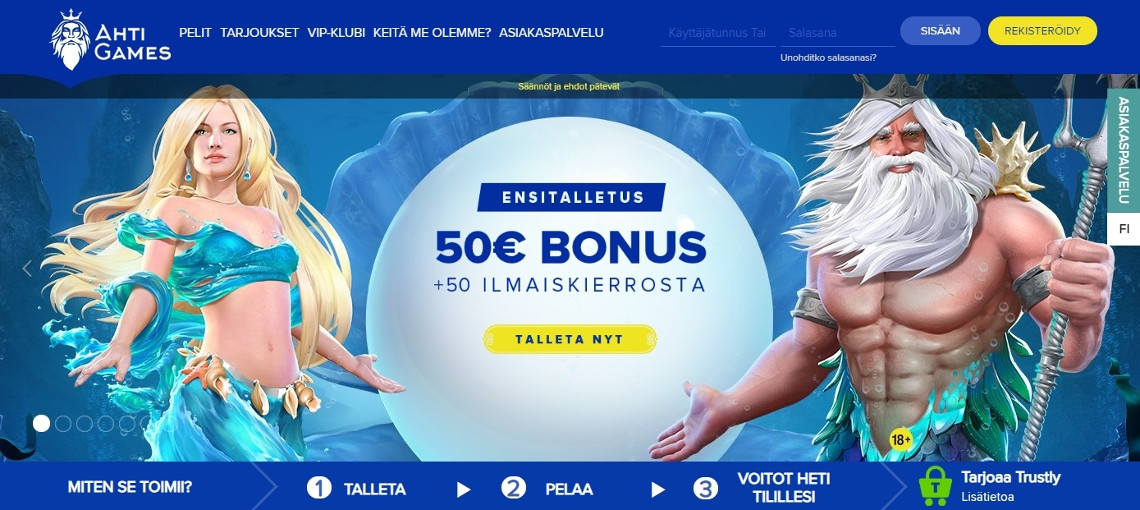 Ahti Games on tuore suomalainen kasino