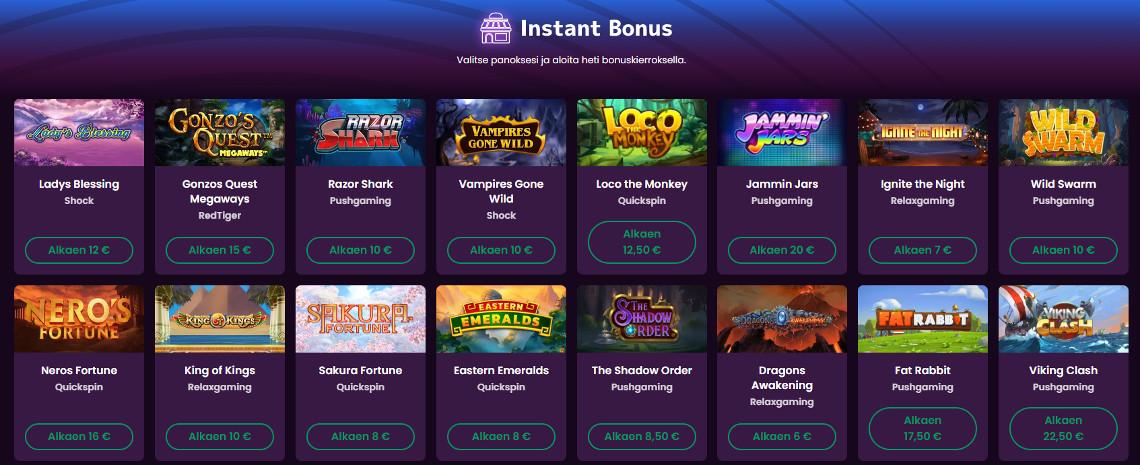 boom casino instant bonus kauppa