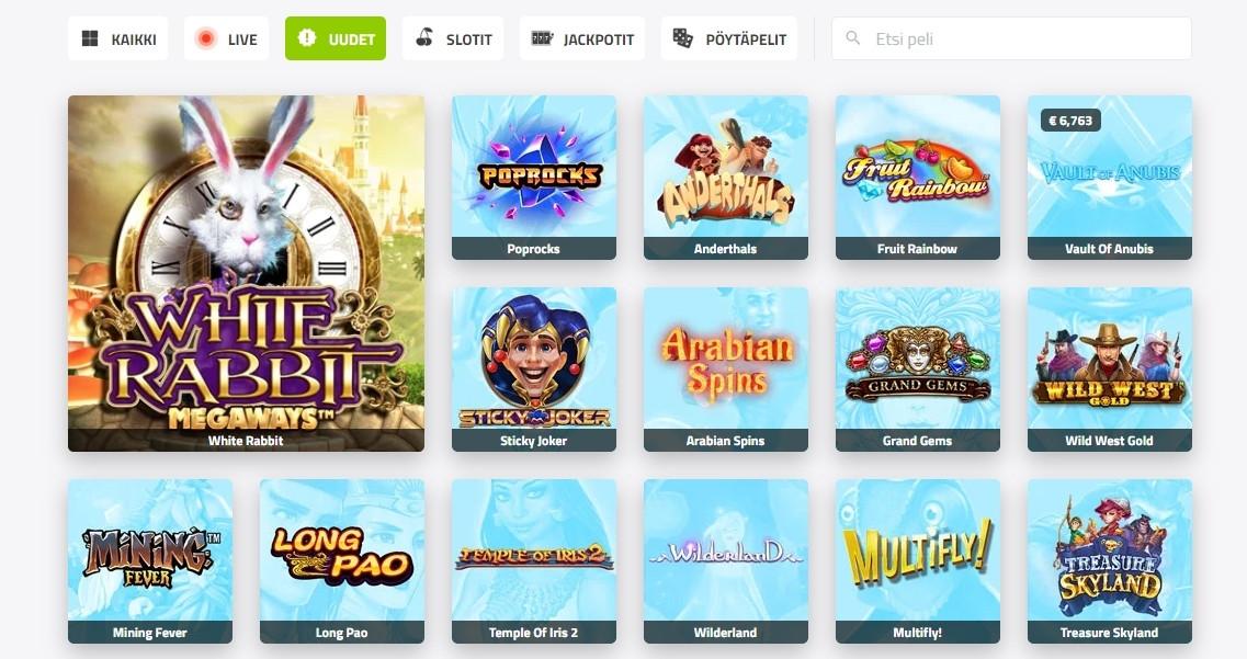 CasinoJEFE kokemuksia - pelivalikoima