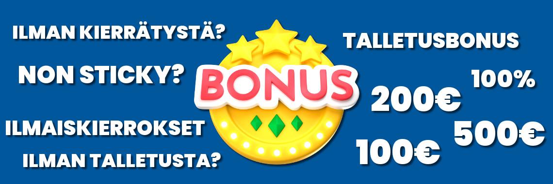 Kasino bonukset - Ahti Games tarjoaa ensitallettajalle 50€ bonuksen ja 50 ilmaiskierrosta