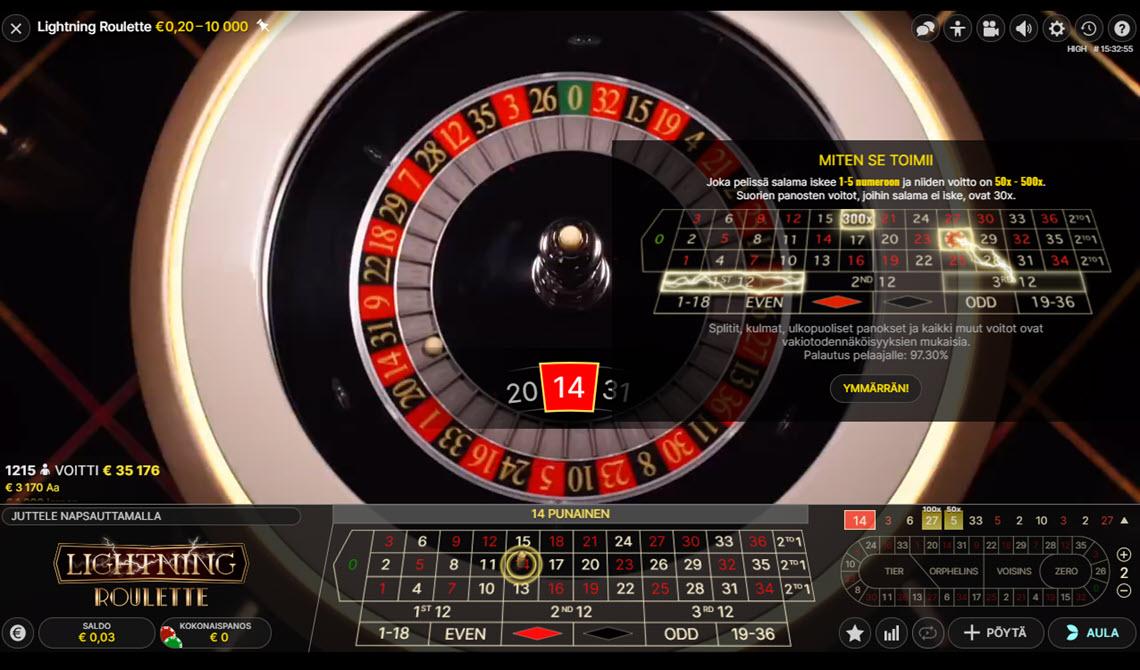lightning roulette ruletti