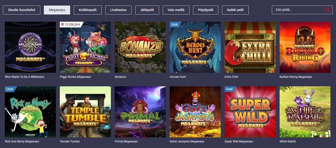 Maria Casinosta löytyy yli 1500 erilaista kolikkopeliä