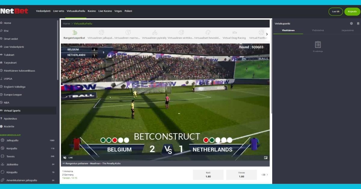 NetBet virtuaaliurheilu