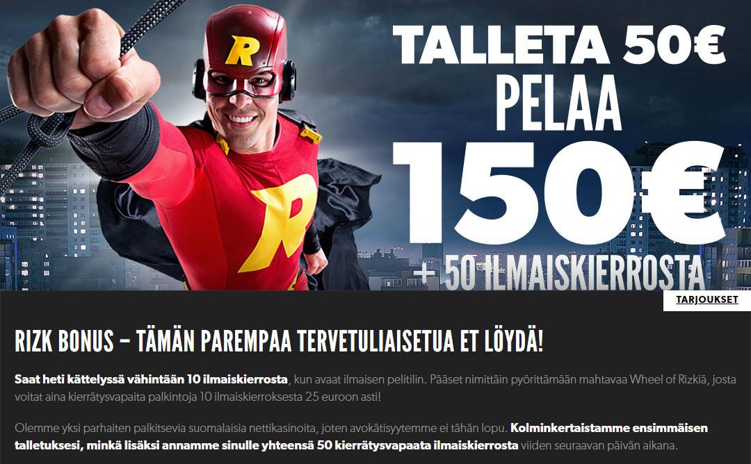 suomalaiset rahapelit bonus