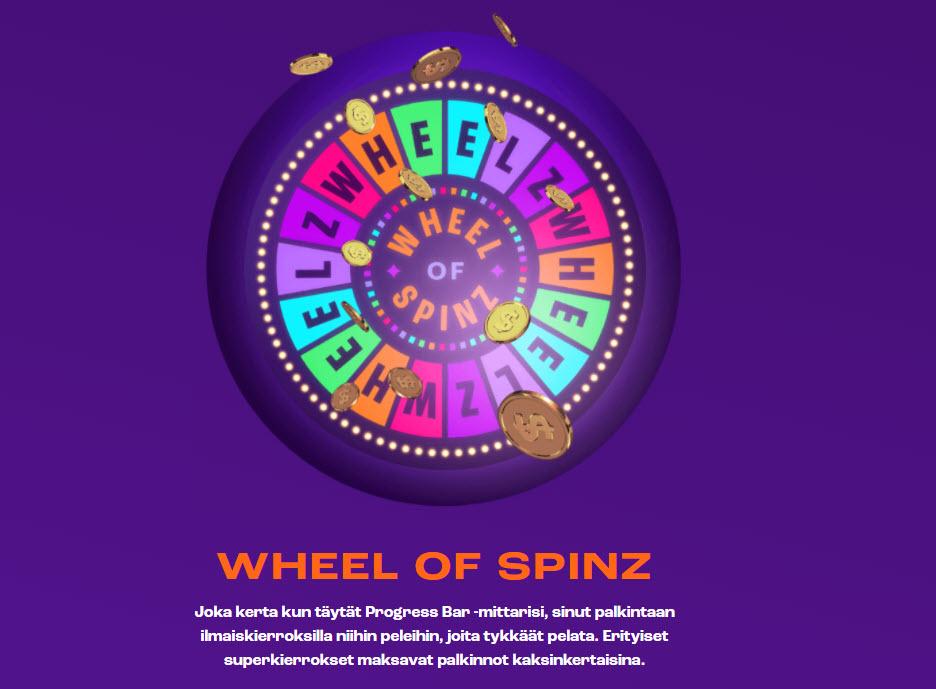 wheelz kokemuksia wheel of spinz